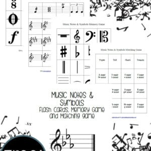 image about Music Notes Printable referred to as no cost Audio Notes Symbols Printables - 12 months Spherical