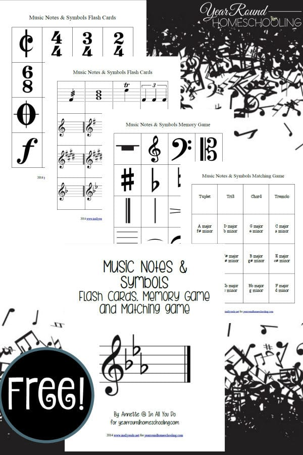 picture relating to Printable Music Notes Symbols identify Audio Notes Symbols Printables - Calendar year Spherical Homeschooling