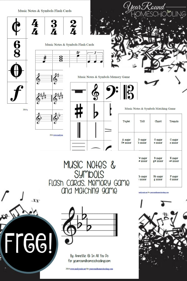 It is a picture of Bewitching Music Note Flashcards Printable