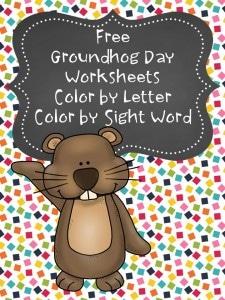 Free Groundhog Day Coloring Worksheets