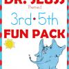 dr. seuss, 3rd, 4th, 5th, word scramble, hangman, checkers, homeschool, homeschooling, printable