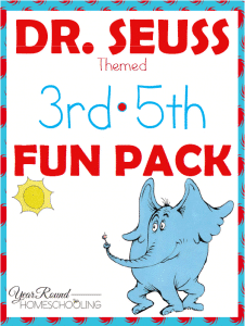 dr. seuss, 3rd, 4th, 5th, word scramble, hangman, checkers, homeschool, homeschooling, printable