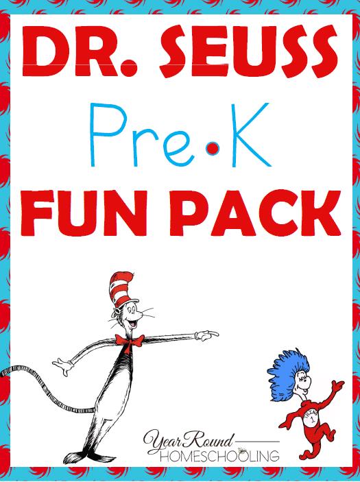 Free Dr. Seuss PreK Fun Pack - By Year Round Homeschooling