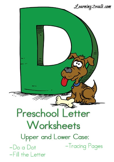 "Free Preschool Letter ""D"" Worksheets"