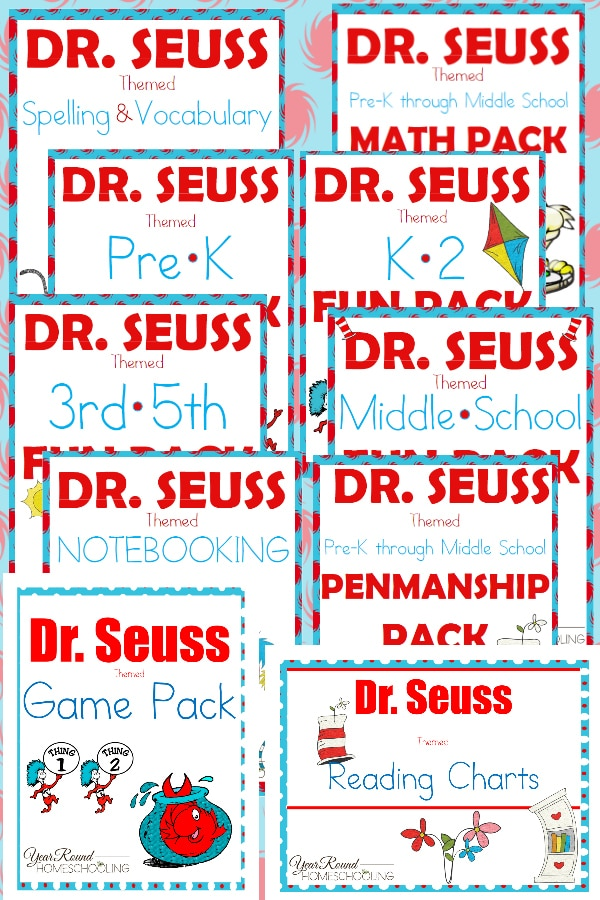 Dr. Seuss Printables - Year Round Homeschooling