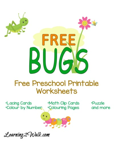Free Preschool Bugs Worksheets