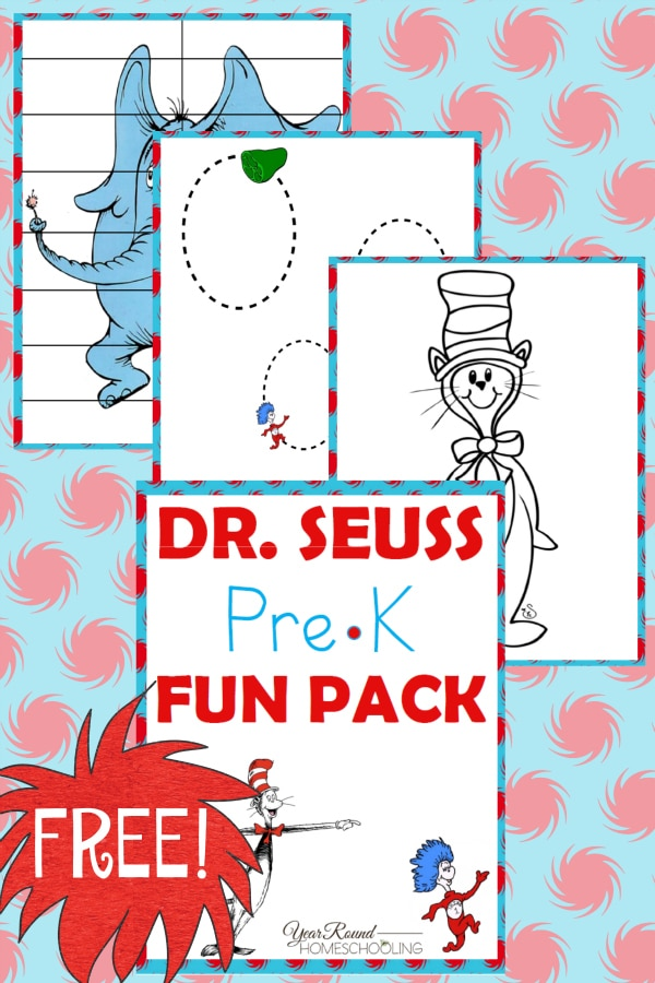Free Dr. Seuss PreK Fun Pack - Year Round Homeschooling