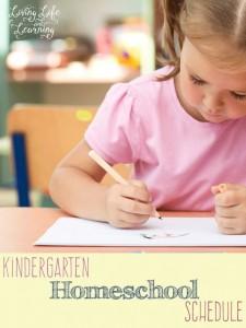 Free Kindergarten Homeschool Schedule Printable