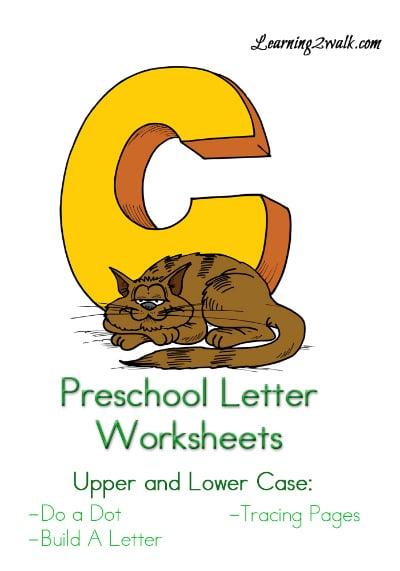 "Free Preschool Letter ""C"" Worksheets"