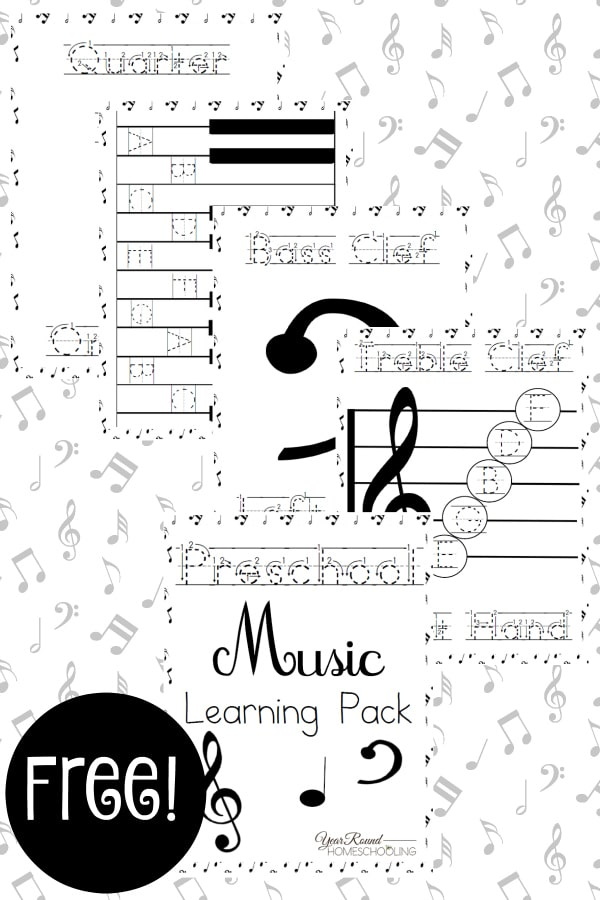 Preschool Music Learning Pack - By Year Round Homeschooling