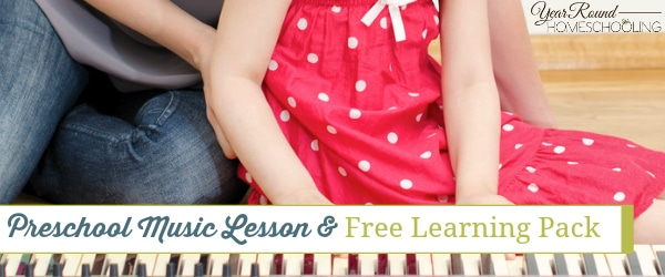 preschoool, music, music lesson, preschool music learning pack, homeschool, homeschooling