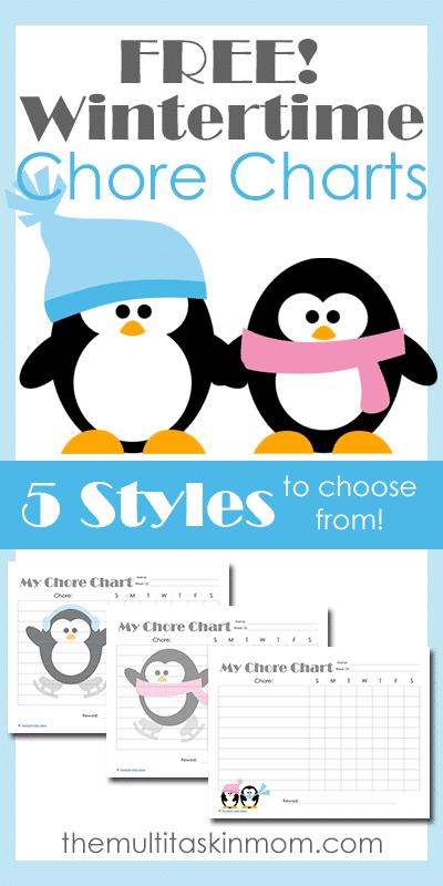 Free Wintertime Chore Charts