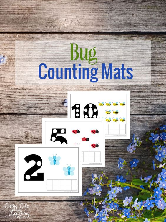 Free Bug Counting Mats Pack Free Homeschool Deals