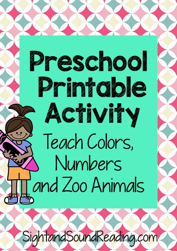 Free Color Preschool Activities