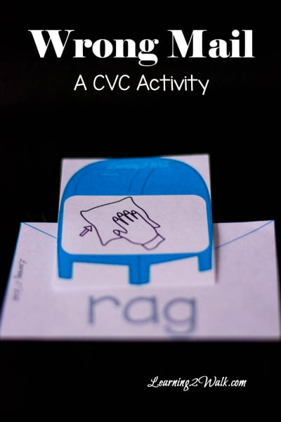 Free Mail CVC Word Worksheets