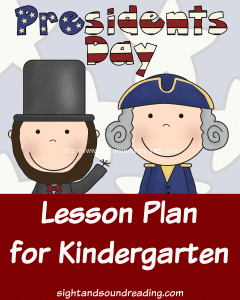 Free Kindergarten President's Day Lesson Plan