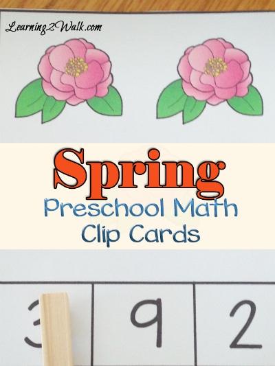 Free Spring Preschool Match Clip Cards