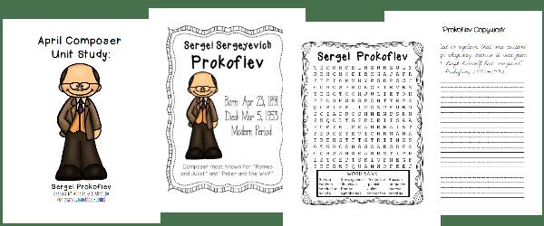 April Composer Study Sergei Prokofiev
