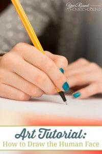 art, draw, human face, drawing, art lesson, art tutorial, homeschool, homeschooling