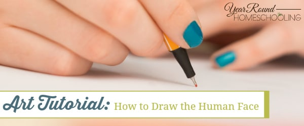 art, draw, human face, drawing, art lesson, art tutorial, homeschool, homeschooling