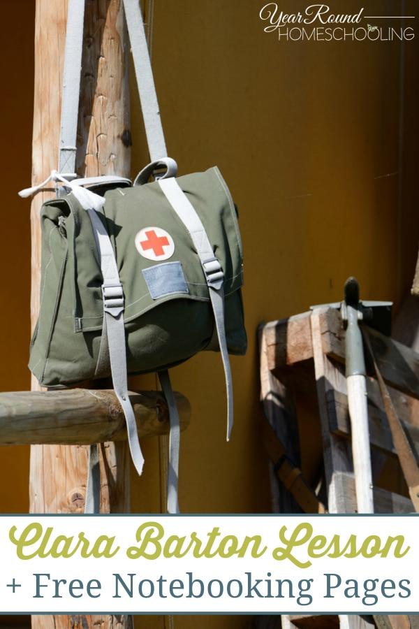 clara barton, american red cross, red cross, homeschool, homeschooling