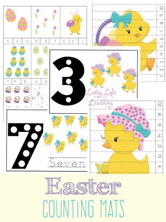 Free Easter Counting Mats