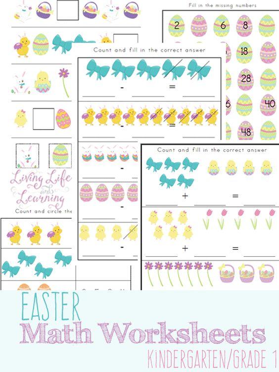 Free Easter Kindergarten Math