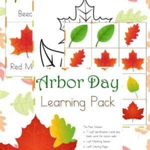 arbor day, leaf identification, trees, leaves, homeschool, homeschooling, printable