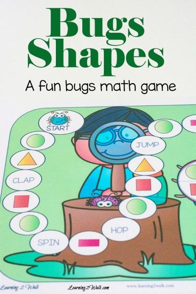 Free Bugs Shapes Math Game