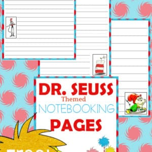 dr. seuss, notebooking, preschool, elementary school, middle school, homeschool, homeschooling, worksheets, printable