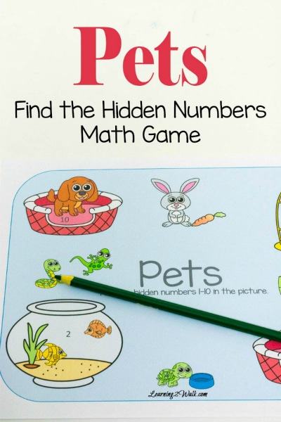 Free Find the Hidden Numbers- Pets Math Game