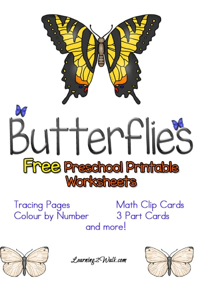 Free Butterflies Preschool Worksheets