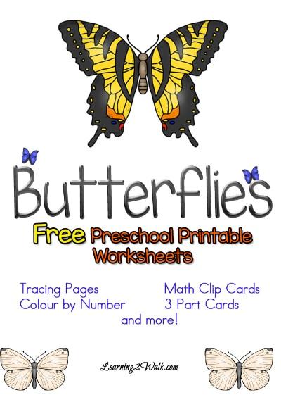 Free Butterflies Preschool Worksheets
