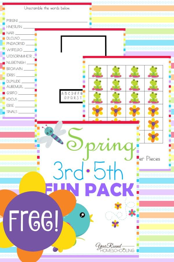 spring, checkers, word scramble, hangman, homeschool, homeschooling, printable