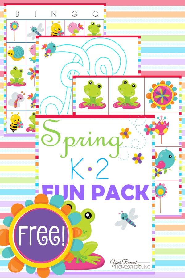 graphic regarding Spring Bingo Game Printable titled Free of charge Spring K-2 Entertaining Pack - 12 months Spherical Homeschooling