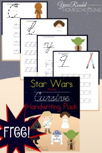 star wars, cursive, handwriting, homeschool, homeschooling, printable