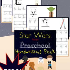 star wars, preschool, handwriting, homeschool, homeschooling, printable
