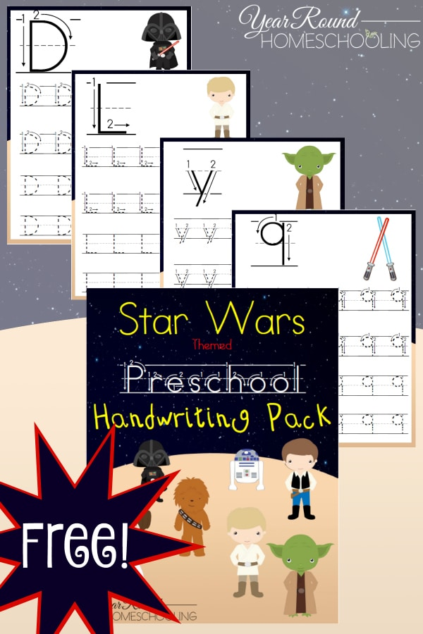 Star Wars Preschool Handwriting Pack