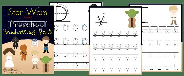 star wars, preschool, handwriting, homeschool, homeschooling, printable