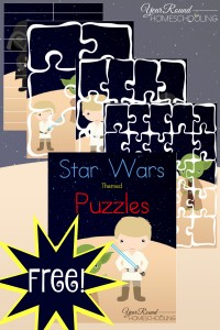 star wars, puzzles, homeschool, homeschooling, printable