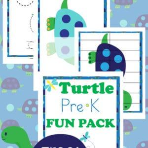 turtle, prek, preschool, homeschool, homeschooling, printable