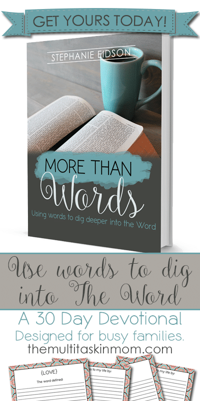 Free 30 Day Devotional - More Than Words