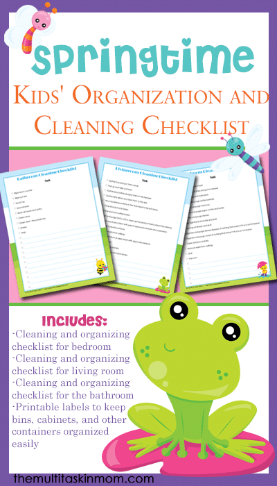 Free Springtime Kids' Organization and Cleaning Checklist