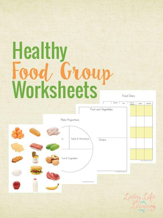 Free Healthy Food Group Worksheets