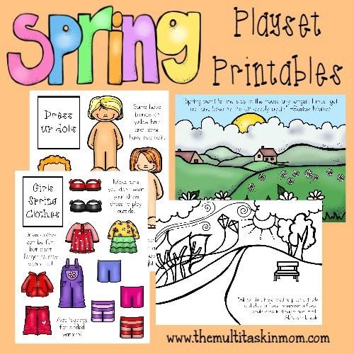 Free Spring Playset & Dress-Up Printable Sets