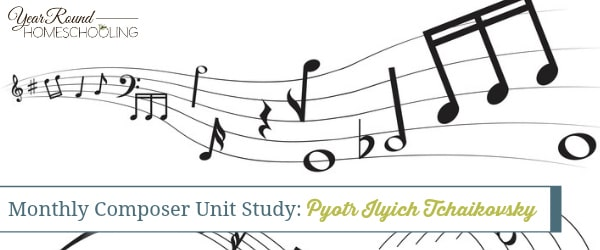 This unit study is a great way to introduce your elementary students to Tchaikovsky, his life and music. Includes printable coloring pages, copywork, and MORE! :: www.yearroundhomeschooling.com