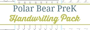 Polar Bear PreK Handwriting Pack
