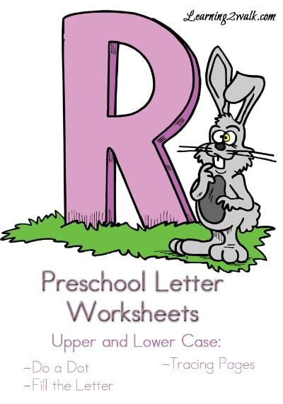 Free Preschool Letter R Worksheets