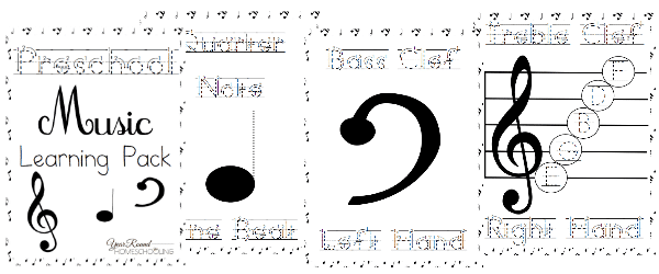 preschool, music, printable