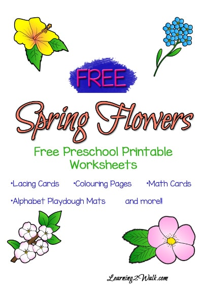 Spring Flowers Worksheets